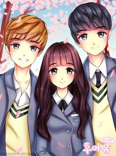 school 2015 who are you - Korean Drama fan art Korean Actresses, Korean Actors, Anime Couples, Cute Couples, Cover Wattpad, Kim So Hyun Fashion, Who Are You School 2015, Chibi, K Drama