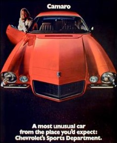 1970 Chevrolet Camaro Full Line Car Brochure