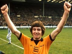 """John Richards of Wolverhampton Wanderers. """"King John"""" made 485 appearances for Wolves scoring 194 goals. His most productive year was 1971-72 when he netted 36 goals. In 1974 he scored the winner at Wembley that brought the League Cup to Molineux after beating Man. City (2-1). In 2010 He was elected to the Wolves Football Hall of Fame."""