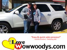 """Easy & quick sales process!"" Scott & Christina Cross Plattsburg, MO"