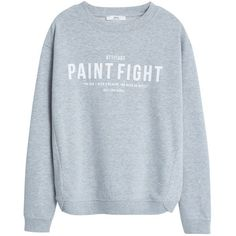 Mango Message Sweatshirt, Medium Grey (432.995 IDR) ❤ liked on Polyvore featuring tops, hoodies, sweatshirts, sweaters, sweatshirt, shirts, sweat shirts, grey crew neck sweatshirt, long sleeve tops and sweatshirts hoodies