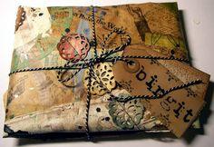 Geschenkpapier in Mixed Media-Art