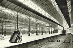 A deserted Euston Station Euston Station, Victorian Era, Edwardian Era, London History, Train Stations, Image, British, Memories, Sea