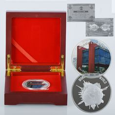 WR 999.9 24k Silver Plated Coin Sao Paulo Museum of Art Metal Challenge Gold Coin with Wooden Box for Brazil Business Gift