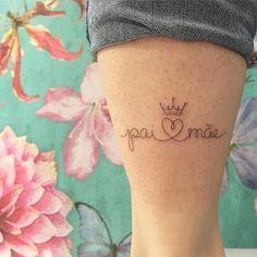 Pai e mãe #tattoo #pai #mãe #tatuagemdelicada