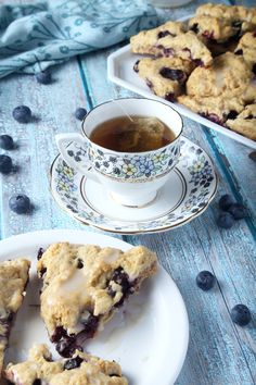 The perfect breakfast always involves a silver tray, and on that tray you'll always find vegan blueberry scones. Serve with coffee or your favorite tea for a sweet morning or afternoon at home. Eggless Desserts, Vegan Dessert Recipes, Vegan Breakfast Recipes, Vegan Snacks, Vegan Recipes Easy, Blueberry Scones, Vegan Blueberry, Perfect Breakfast, Eat Breakfast