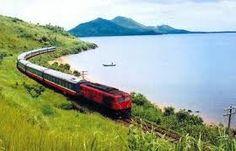 Vietnam train on the way