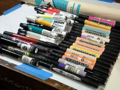 marker pens - A Libra needs his/her tools, in order to create their masterpieces.