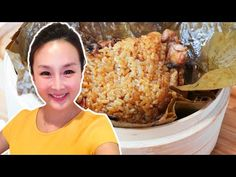 Chicken Sticky Rice in Lotus Leaf, CiCi Li - Asian Home Cooking Recipes Boiled Beef, Dried Scallops, Rice Wraps, Asian Rice, Braised Pork Belly, Basil Recipes, How To Cook Sausage, English Food, Marinated Chicken