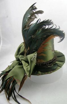 Awesome Hat!!  Steampunk Society - #steamPUNK - ☮k☮ -  #green