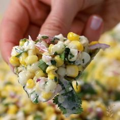 This Mexican Street Corn Salad recipe (aka Esquites) is tangy, spicy, and deliciously creamy. Whether you cook the corn on the grill or in a skillet, this easy Mexican corn salad is guaranteed to be a hit for all your summer gatherings. #corn #salad #cornsalad #mexicancorn #mexicansalad #sweetcornsalad #foolproofliving