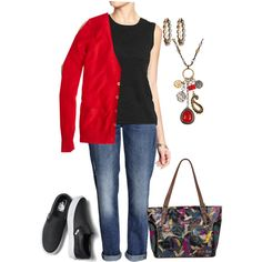 Untitled #706 by texasgal50 on Polyvore featuring J.Crew, Old Navy, H&M, Vans, Sakroots and Lucky Brand