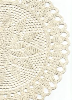 Crochet doilies, lace doily, table decoration, crocheted place mat napkin, cream