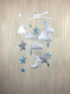 Baby mobile cloud mobile star mobile by JuniperStreetDesigns