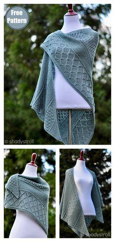 Lattice Sampler Shawl Free Knitting Pattern #startknittingfreepattern #shawlwrap #shawlscarf #freeknittingpattern