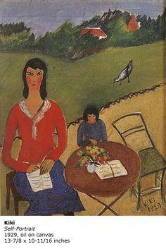 A self portrait by Kiki , 1929 Kiki De Montparnasse, Alice, Vietnam, Canvas, Painting, Queen, Paintings, Famous Artists, Self Portraits