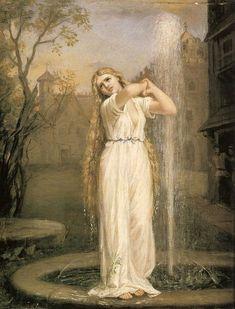 'Undine'. (1872). (by John William Waterhouse).