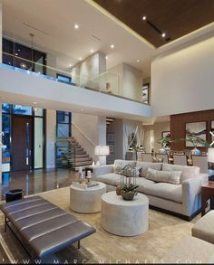 Modern Home Decor Interior Design Home Room Design, Dream Home Design, Modern House Design, Decor Interior Design, Living Room Designs, Interior Ideas, Big Modern Houses, Living Rooms, Dream House Interior