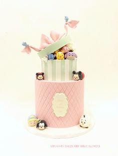 Tsum tsum and cindelera blue bird birthday cake!