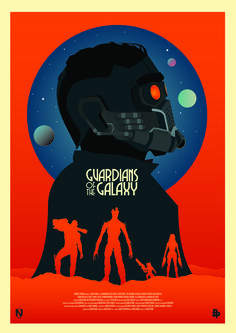 Guardians of the Galaxy Minimalist Poster