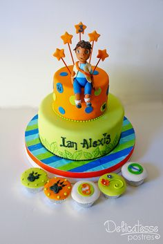 go diego go birthday ideas | go diego go cake 3d go diego go figure modeled by hand also some ...