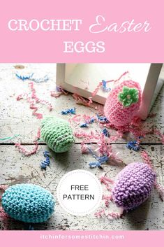 How to Crochet Easter Eggs - Itchin' for some Stitchin' - These Easter Eggs are easy, colorful, and super fun to make! They require very little yarn and thu - Easter Egg Pattern, Easter Crochet Patterns, Knitting Patterns, Crochet Ideas, Crochet Tutorials, Crochet Crafts, Easy Crochet, Free Crochet, Crochet Seed Stitch