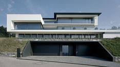 Central Switzerland 2 - All About Balcony Minimal Architecture, Residential Architecture, Contemporary Architecture, Architecture Design, Duplex House Design, Modern House Design, Roof Design, Exterior Design, Building Design