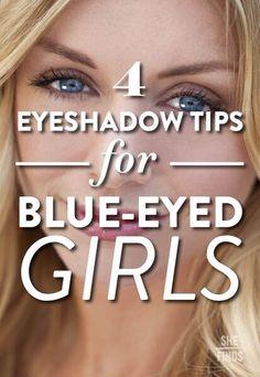 Eyeshadow tips for blue eyes