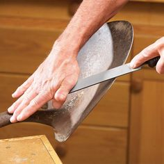 Sharpening Knives, Scissors and Tools - 13 expert sharpening tips and tools to make the job easier - no more dull DIY and garden tools! Sharpen Your Shovel, Axe, and more