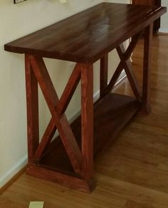 Entry Way Table, butcher block top