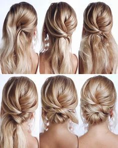 Easy Homecoming Hairstyles, Easy Hairstyles For Long Hair, Hairstyles For Medium Length Hair Tutorial, Wedding Hairstyles Tutorial, Bride Hairstyles, Hairstyle Tutorials, Gorgeous Hairstyles, Formal Hairstyles, Wedding Updo Tutorial