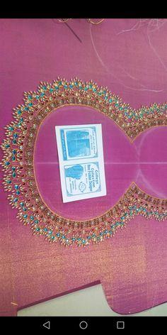 Imroz blouse designer 8096946242 Blouse Designs Catalogue, Best Blouse Designs, Bridal Blouse Designs, Hand Embroidery Design Patterns, Embroidery Works, Dress Sewing Patterns, Mirror Work Blouse Design, Maggam Work Designs, Pattu Saree Blouse Designs