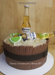 cakes for men Birthday Cakes For Men, Funny Birthday Cakes, 18th Birthday Cake, Corona Cake, Liquor Cake, Beer Decorations, 18th Cake, Dad Cake, Fathers Day Cake