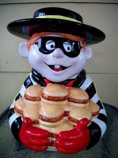 McDonald's Hamburglar Cookie Jar made in China by Treasure Craft