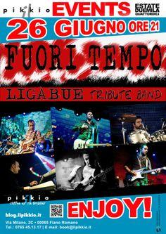 Iniziano le serate in #musica! Giovedì 26 Giugno 2014 i FUORI TEMPO | Ligabue Tribute Band. ENJOY !