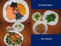Here are my Day 8 Meals on the Beachbody Ultimate Reset