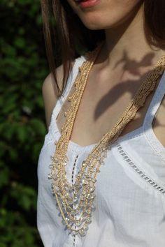 Bohemian Beaded Necklace by ElvishThings, $42.