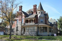 Victorian, Kittanning, PA I bet the fireplaces are awesome! Victorian Architecture, Architecture Old, Classical Architecture, Sustainable Architecture, Residential Architecture, Contemporary Architecture, Old Abandoned Houses, Old Houses, Tree Houses
