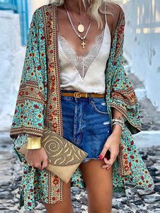 Gilet Kimono, Women's Kimono Cardigan, Chiffon Cardigan, Chiffon Kimono, Summer Cardigan, Boho Kimono, Long Cardigan, Cardigan Pattern, Floral Cardigan