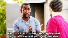 New Girl Quote (About sucks sorry miserable life gifs friendship friends fault best friends apology)