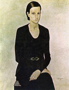 Portrait of Maria (1932) by Candido Portinari (Brazilian 1903-1962)