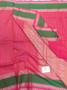 Kanchi cotton saree with Thread woven butta all over