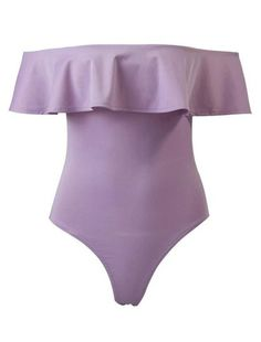 1adf05ad46 Off The Shoulder Bodysuit With Frill (Purple) Hipszter Outfitek, Tumblr  Outfitek, Nyári