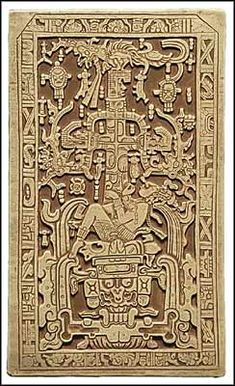 King Pacal's sarcophagus in Palenque, Mexico.