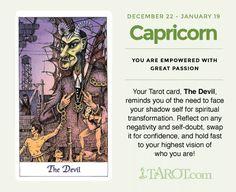 Capricorn Tarot Card: The Devil