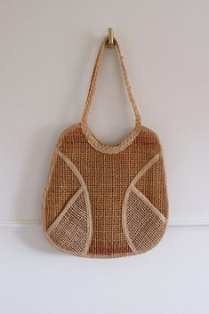 Preloved woven straw bag with lining. Tavistock, Straw Bag, Green, Bags, Accessories, Shopping, Vintage, Fashion, Purses