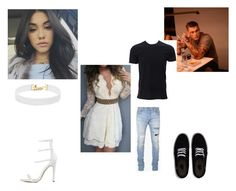 """Party//Emma and james"" by b-l-e-s-s-ed ❤ liked on Polyvore featuring Vanessa Mooney, Simplex Apparel, Balmain and Vans"