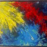 Le soleil...cartulina pintada 30x40 cm