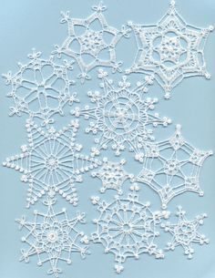 Winter Jewels Mock Crochet Free-Standing Lace Snowflakes