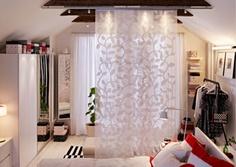 IKEA Österreich, Inspiration, Schlafzimmer, Schiebegardine Aderblad